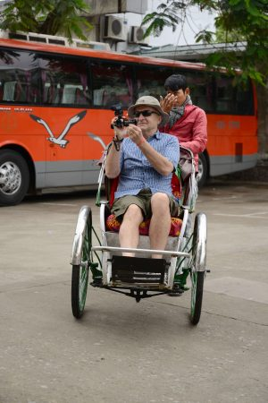 Doing Fun Things In Hue Taking a Street Taxi